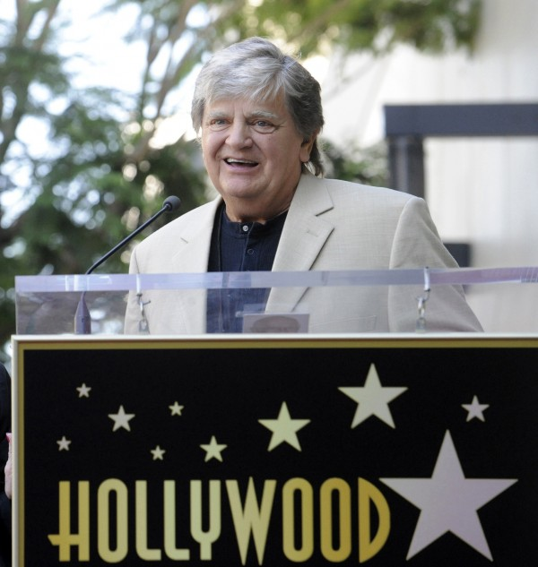 Musician Phil Everly speaks during a ceremony on the Hollywood Walk of Fame in Hollywood in 2011.