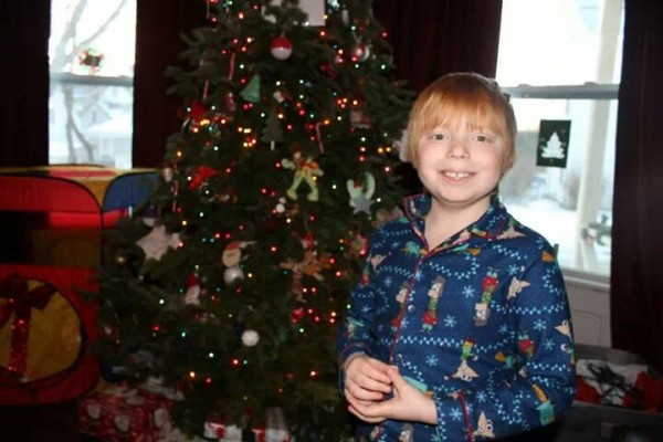 Heather Nelson's son, Brian Farnham, 9, of Rockland, is pictured this Christmas.