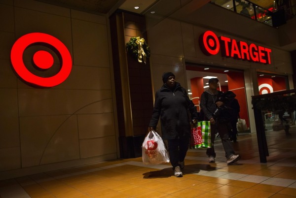 People shop at a Target store during Black Friday sales in the Brooklyn borough of New York, in this November 29, 2013, file photo.