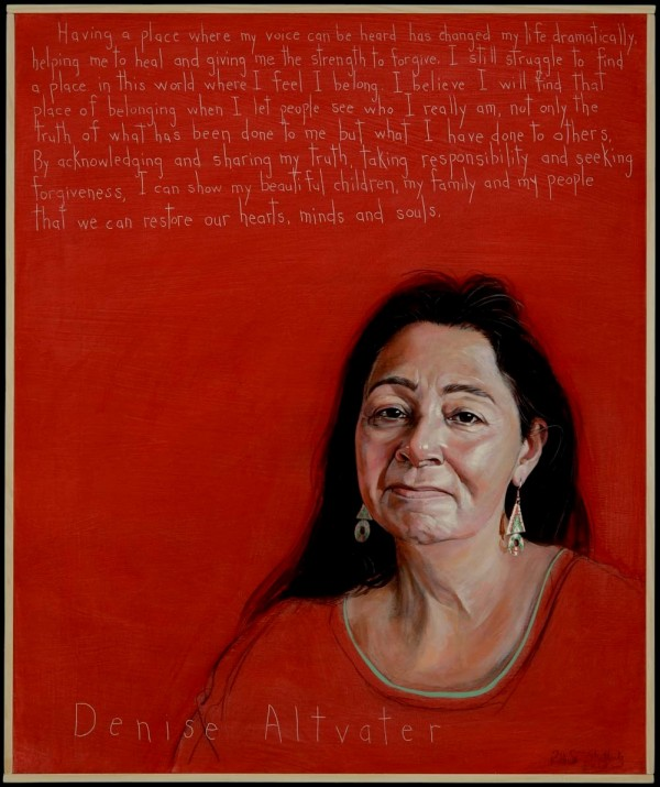 A portrait of Denise Altvater by Robert Shetterly of Brooksville, as part of his &quotAmericans Who Tell the Truth&quot series. Altvater is a leader of the Maine Wabanaki-State Child Welfare Truth and Reconciliation Commission process.