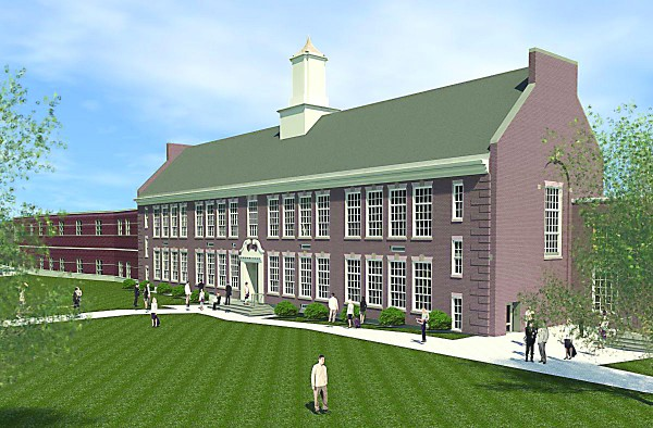 This image shows what Kennebunk High School would have looked like if a $53.55 million renovation project was approved by voters.