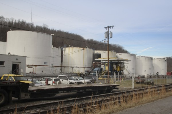 The Freedom Industries chemical plant is shown after a leak at the facility sent chemicals into the Elk River near Charleston, W. Va., on Jan. 10, 2014.
