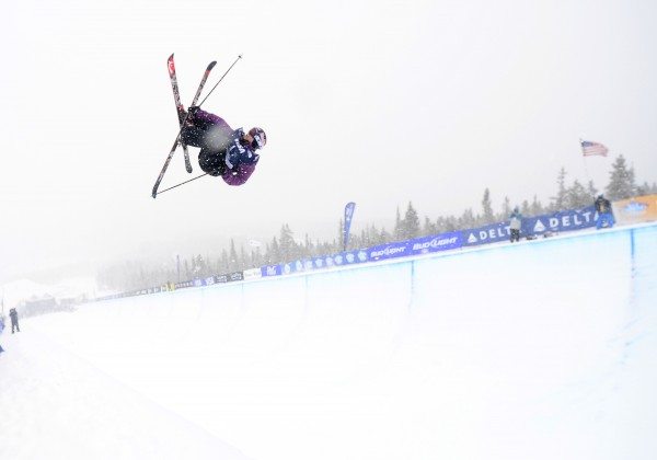 Simon Dumont of the United States competes during the men's U.S. Grand Prix halfpipe finals Jan. 12, 2014, at Breckenridge Ski Resort in Colo.