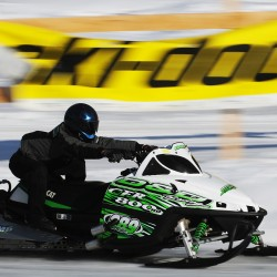 Snowmobilers battle Mother Nature to host annual drag races
