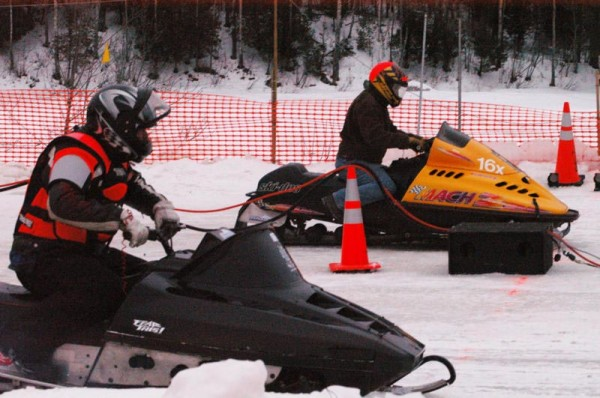 Eighty-three drag racers graced the inaugural Maine Snowmobile Drag Racing Association races at the East Branch Sno-Rovers Club in Medway in January 2010.