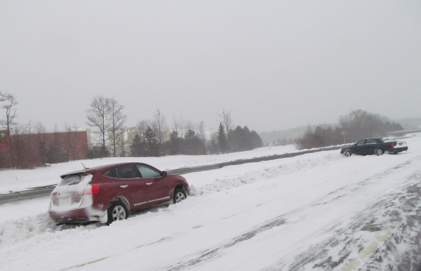 Freeport police responded to a two-vehicle crash Friday morning just after 8:30 a.m. on Interstate 295 southbound. Southern Maine continued to receive blustery snow and bitter temperatures that made driving hazardous Friday morning, more than a day after the near-blizzard conditions first arrived.