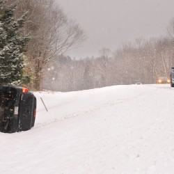Slipping, sliding vehicles keep police in northern Maine busy Saturday morning