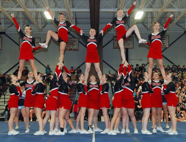 Central High School's performance was the winning one at the PVC Class C and D Cheering Competition on Saturday at Mattanacook Academy in Lincoln.