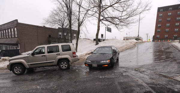 The drivers of these vehicles decided it was safer to leave their vehicles on Short Street in Bangor instead of continuing on their way during the dangerous conditions Saturday.