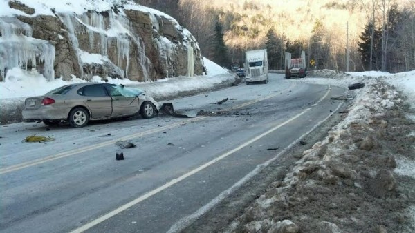 An 18-year-old Brookton man was killed when the car he was driving collided with a tractor-trailer on U.S. Route 1 in Topsfield on Wednesday morning.