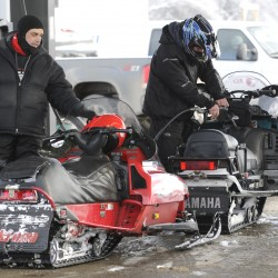Storm brings snowmobilers north this weekend