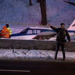 Airplane makes emergency landing on Mont. highway
