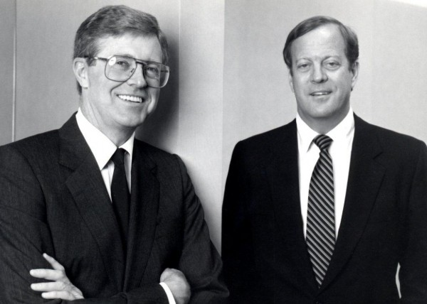 Charles Koch, left, and David Koch, pictured in 1970.