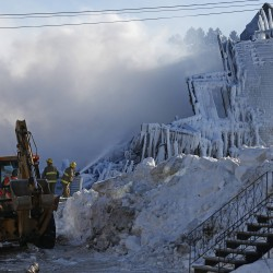 Bad weather forces Quebec police to halt search of blaze ruins