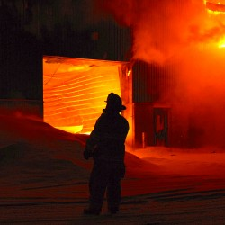 Potato storage shed on fire in Fort Kent