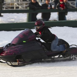 Snowmobilers zoom to Medway for ice drag races