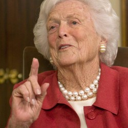 Former first lady Barbara Bush remains in Houston hospital