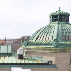 Bangor library unveils new copper roof, prepares to move forward with rest of makeover