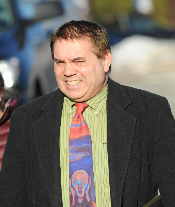 Rodney Russell leaves federal court in Bangor on Monday.