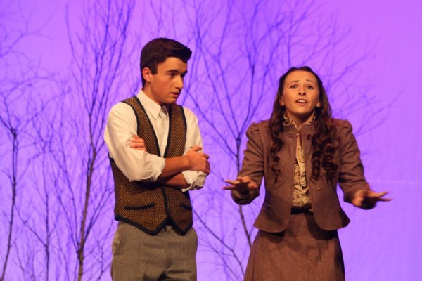 Catelyn Kimball and Reed Davis perform in the Brewer Youth Theatre program's fall production of &quotThe Lion, the Witch and the Wardrobe.&quot The program has been invited to perform in the Fringe Festival in Edinburgh, Scotland.