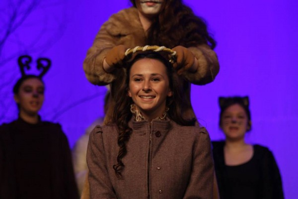 Catelyn Kimball performs in the Brewer Youth Theatre program's fall production of &quotThe Lion, the Witch and the Wardrobe.&quot The program has been invited to perform in the Fringe Festival in Edinburgh, Scotland.