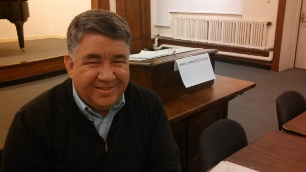 Bangor resident and community college ethics professor Mike Turcotte announced plans to form an exploratory committee to determine whether he will run for U.S. Sen. Susan Collins' seat in 2014. He made his statement at Bangor Public Library on Tuesday, Jan. 7, 2014.
