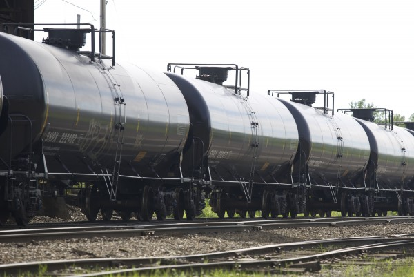 Tankers remain on a rail off of Route 2 in Hermon on Friday, July 12 2013. The recent train derailment that left as many as 50 people in the small Quebec town of Lac-Megantic dead has stirred a debate about the delivery process of crude oil.