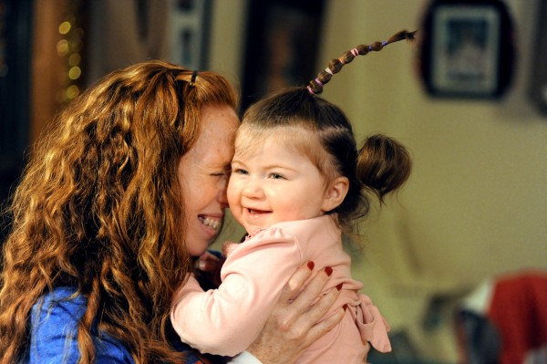 Tracey Haskell shares a sweet moment with her 20-month-old niece, Chelsea, who now lives with her. Tracey took guardianship of her niece and nephew following the tragic death of her sister, April Haskell, in October.