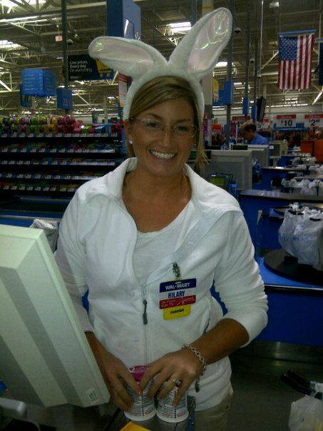 Hilary Saenz, 29, died on Christmas 2013. This photo was taken of her on Halloween at Walmart, where she worked.
