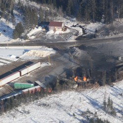 President of railroad apologizes to New Brunswick town for derailment and fire