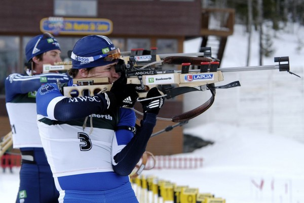 Russell Currier was 12 for 20 on the range during the men's mass start at the US National Championships in March 2009.