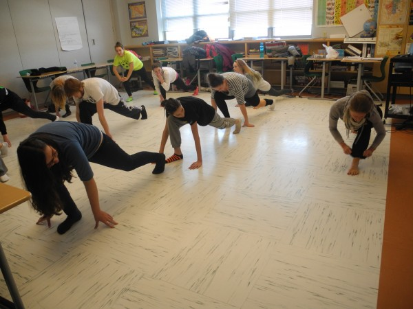 Students at Mount View High School in Thorndike got to try a wide variety of classes during Exploratory Week, including hip-hop dance with dancer Shana Bloomstein.