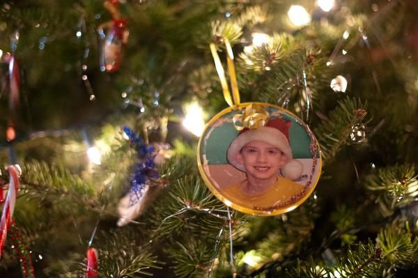 A Christmas tree ornament shows Bradley LaPointe of Topsham as a child.