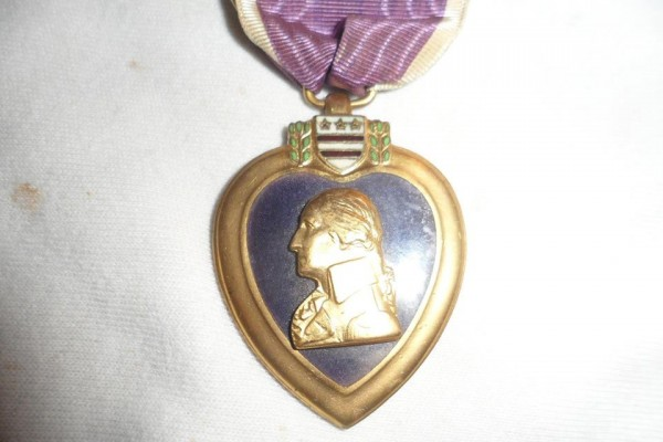 This is the Purple Heart medal awarded to Pfc. Frank Conroy, who received it for injuries he suffered in France during WWI. The medal is being returned to his family, thanks to a Vermont woman who came into possession of it and a nonprofit group that reunites lost or stolen medals with their rightful owners.
