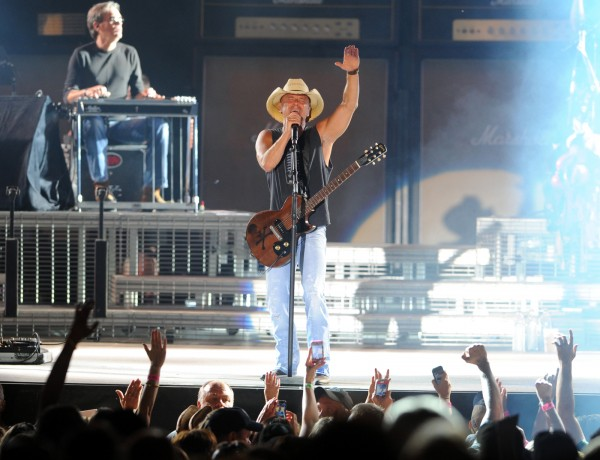 Kenny Chesney performs at Darlings Waterfront Pavilion Wednesday evening on his 2013 No Shoes Nation Tour in this August 2013 file photo.