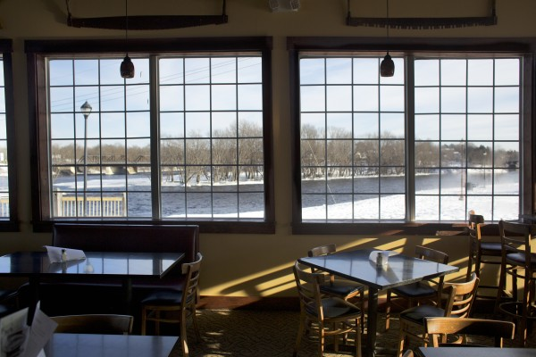 The Boomhouse Restaurant is owned by Luke Duplessis and Matt Duque and has a view of the Penobscot River from its location on the Old Town waterfront.