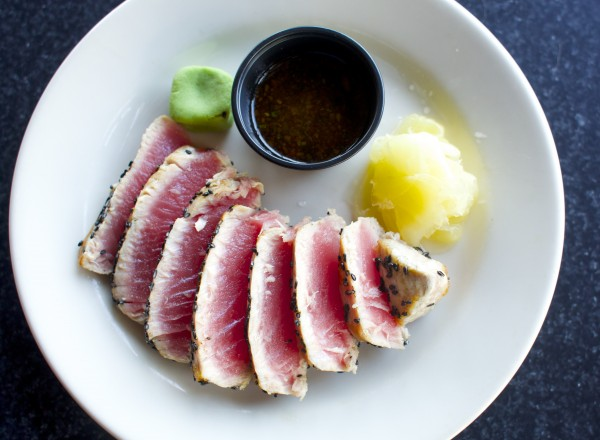 Block Cut Tuna is an appetizer available at the Boomhouse, a new restaurant and bar on the riverfront in Old Town.