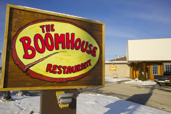 The Boomhouse Restaurant is located on the Old Town riverfront.