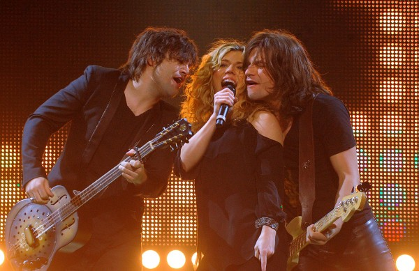 The Band Perry (from left) Neil Perry, Kimberly Perry and Reid Perry during their concert at the Cross Insurance Center on Friday evening.