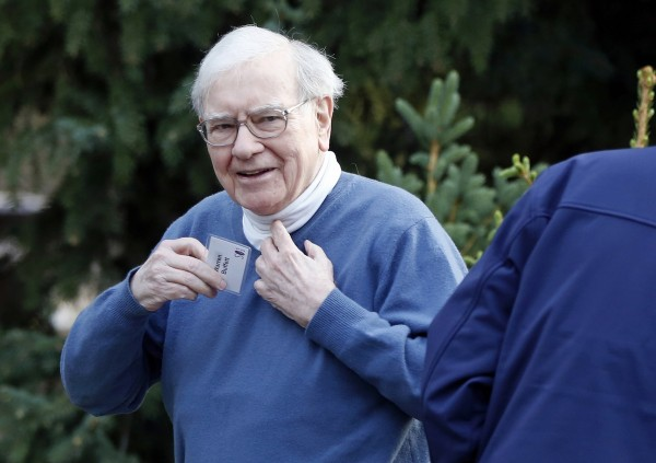 Berkshire Hathaway CEO Warren Buffett arrives for a conference in Sun Valley, Idaho, in this July 12, 2012, photograph.