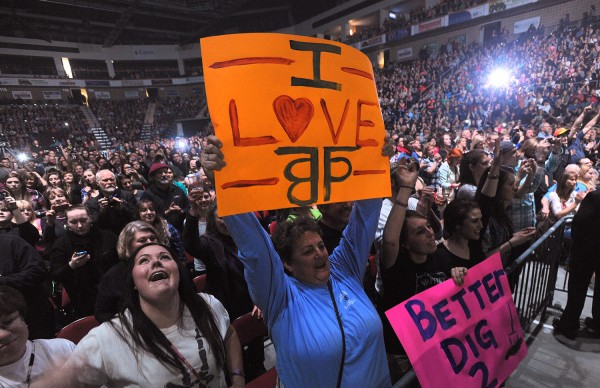 Fans of The Band Perry during the concert at the Cross Insurance Center on Friday evening.