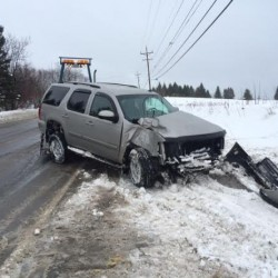 Madawaska man escapes injury after pickup strikes wrecker