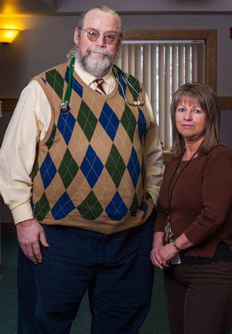 TAMC Provider Dr. Daniel Fowler and Care Coordinator Lorraine Deschaine, both located at TAMC's Fort Fairfield Health Center, communicate frequently to ensure patients are receiving the best possible care between visits.  TAMC's leading efforts with Coordinated Care will be the topic of a January 22 Community Lunch and Learn/Healthy Aging Luncheon at the Presque Isle Inn and Convention Center.