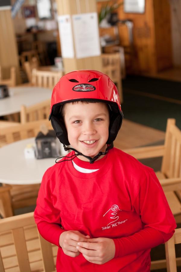 Child ski racer.