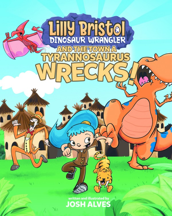 """Lilly Bristol Dinosaur Wrangler and the Town a Tyrannosaurus Wrecks!"" follows the adventures of a young girl who deals with the dinosaurs that have taken over her town."