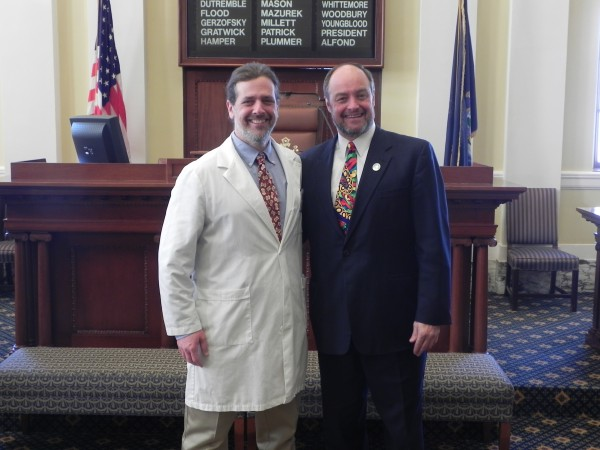 Dr. Jack Forbush and State Sen. Andre Cushing, R-Penobscot