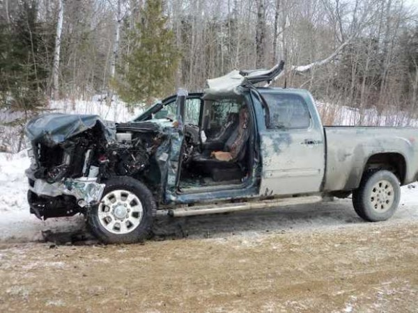 Robert &quotBob&quot Thorndike, 56, of Phillips was injured Wednesday when his pickup truck collided with one of his logging trucks on ice-covered Morton Cut-Off Road in Lower Cupsuptic Township in northern Oxford County, Maine State Police Trooper Jason Wing said Thursday.
