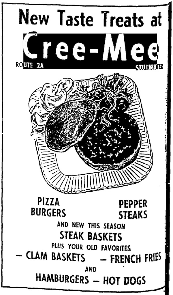 An ad from the April 20, 1961 Penobscot Times showcases Cree-Mee. Until this ad was discovered, founders Leith and Donna Wadleigh had for years noted 1960 as the first year of their business, but now realize they've been one year off. Cree-Mee, the predecessor to Governor's, opened in 1959.