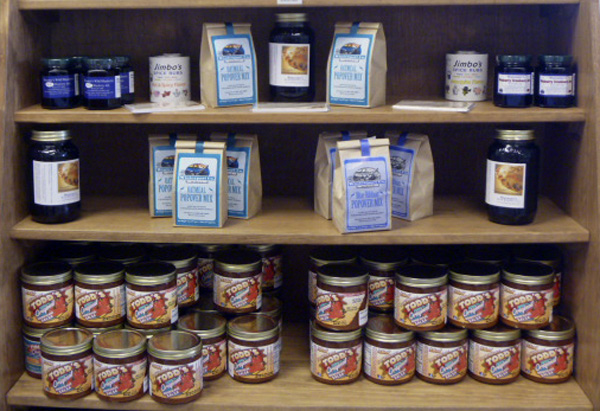Food products made in Maine are among the many items featured at Huckleberries in Brewer.