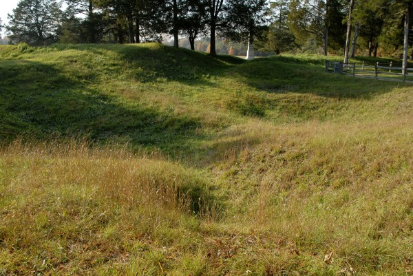 At Petersburg National Battlefield Park in Virginia, visitors can gaze on the remains of The Crater, created when a massive Union mine exploded beneath a Confederate fort on July 30, 1864.